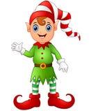 Christmas boy elf cartoon Stock Image