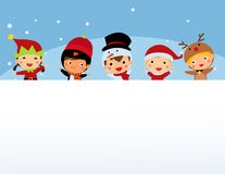 Christmas boy and girl Stock Images