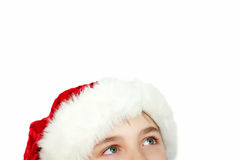 Christmas boy looking up Royalty Free Stock Photo
