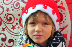 Christmas boy Stock Images
