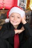 Christmas Boy Stock Photo