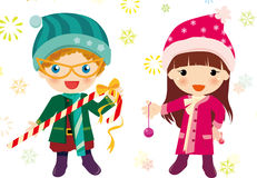 Christmas boys and girls. Illustration of Christmas boys and girls Stock Photography