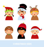 Christmas boys and girls Stock Photo