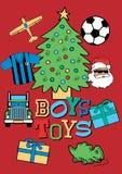 Christmas boys toys. Vector illustration of Christmas gifts for boys Royalty Free Stock Image