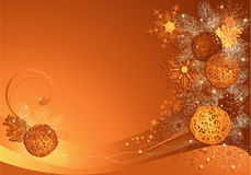 Christmas with braided baubles Royalty Free Stock Photo
