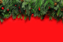 Christmas branches background Royalty Free Stock Images