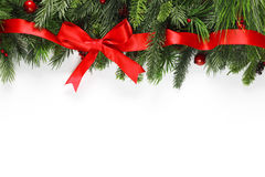 Christmas branches background Stock Images