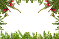 Christmas branches border Royalty Free Stock Photos