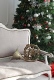 Christmas brass music Royalty Free Stock Image