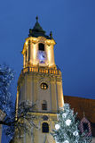 Christmas in Bratislava Stock Photography