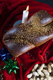 Christmas bread and peanuts Stock Photography