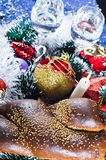Christmas breads and wine Royalty Free Stock Image