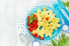 Christmas breakfast brunch or dessert idea for kids Stock Image