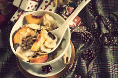 Christmas Breakfast cereals vintage Royalty Free Stock Image