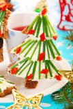 Christmas breakfast for child Royalty Free Stock Photos