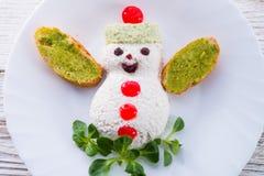Christmas breakfast for child Stock Photo