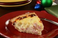 Christmas breakfast quiche Stock Photo