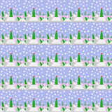 Christmas bright background. Vector illustration Christmas background with Christmas trees a bright garland star drifts of and colors with a happy snowman in the vector illustration