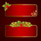 Christmas bright blank festive banners set Stock Photography