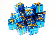Christmas bright, colorful gifts Royalty Free Stock Photography