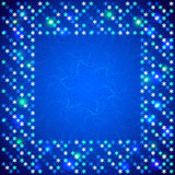 Christmas bright frame with shiny sequins Royalty Free Stock Photo