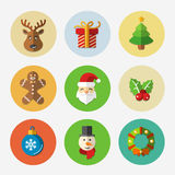 Christmas bright icons collection - vector Stock Images