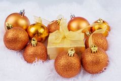 Christmas brightly spheres Stock Photo