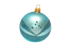 Christmas brilliant sphere on a white. Background Royalty Free Stock Photography