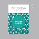 Christmas brochure flyer for greeting card Stock Photography