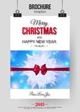 Christmas brochure template. Abstract. Typographical flyer design with place for text. Vector illustration vector illustration