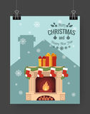 Christmas brochure template. Royalty Free Stock Images