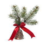 Christmas bronze bell Stock Image