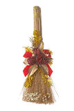 Christmas broom Stock Image