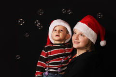 Christmas brother and sister Royalty Free Stock Image