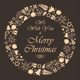 Christmas brown background Royalty Free Stock Photos