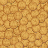 Christmas brown biscuit with symbols seamless pattern Stock Photos