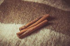Christmas. Brown spices, cinnamon sticks, food Stock Photography