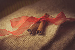 Christmas. Brown spices, cinnamon sticks, food Royalty Free Stock Image