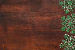 Christmas brown wooden background Royalty Free Stock Photography