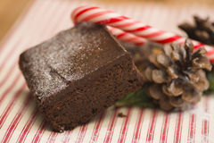 Christmas brownie Royalty Free Stock Image