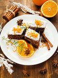 Christmas brownies Stock Images