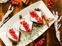 Christmas brownies Royalty Free Stock Images