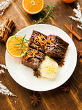 Christmas brownies Stock Photo