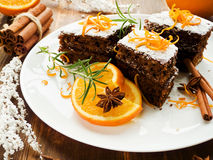 Christmas brownies Royalty Free Stock Photography