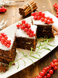 Christmas brownies Stock Photos