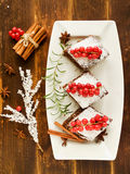 Christmas brownies Royalty Free Stock Photos