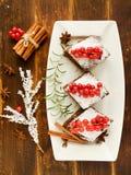 Christmas brownies Royalty Free Stock Photos
