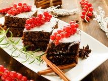 Christmas brownies Stock Image