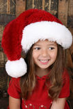 Christmas Brunette Royalty Free Stock Photo