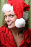 Christmas brunette Stock Image